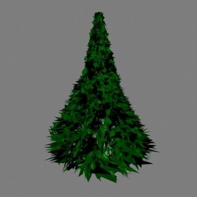 3d model tree christmas