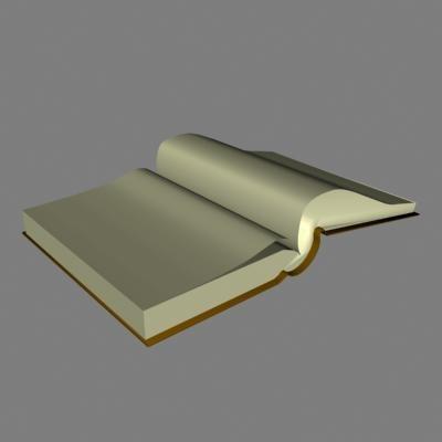 3d open book model