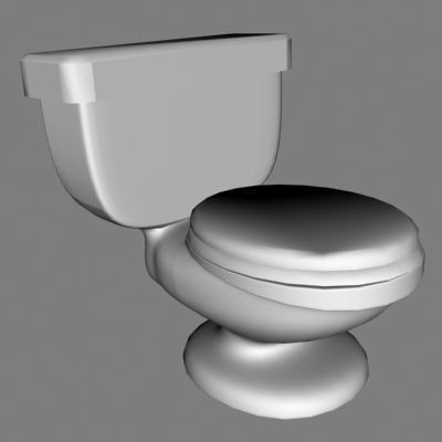 3d model restroom urinate