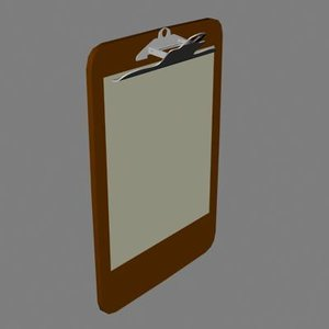 clipboard wood 3d model