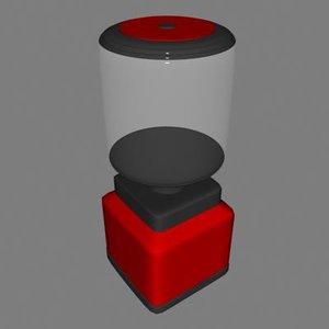 3d gum ball machine model