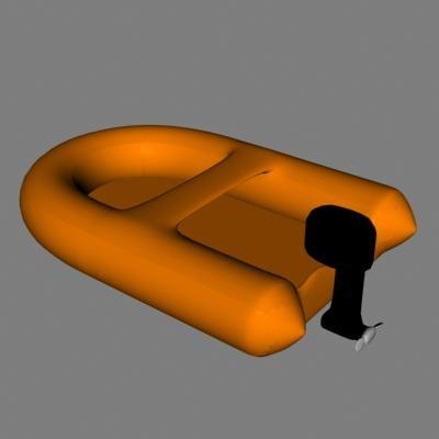 3d model motorboat lifeboat