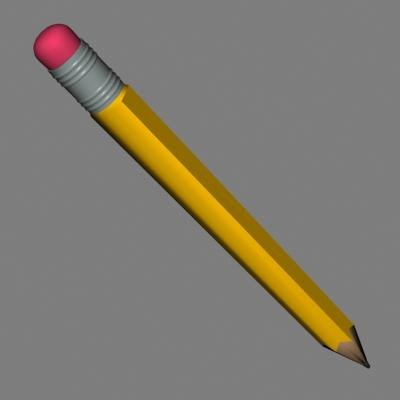 3d model pencil
