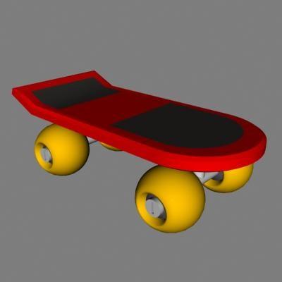 skateboard 3d lwo