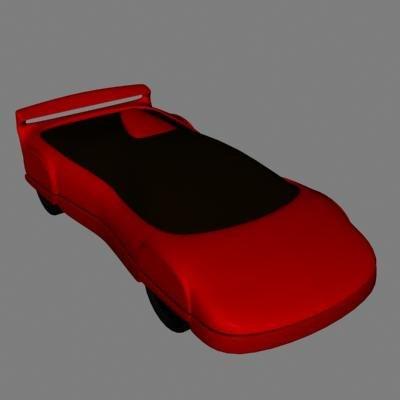 lwo red sportscar