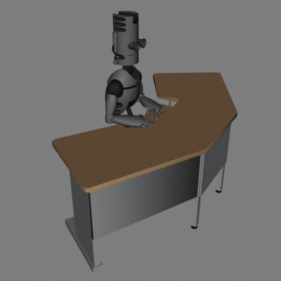 3d model droid desk