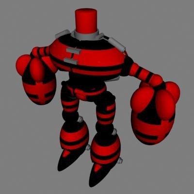 3d model red black