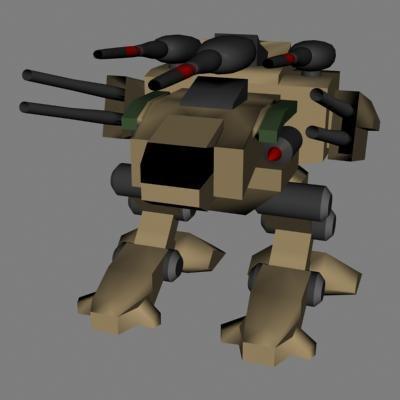 3d mech model