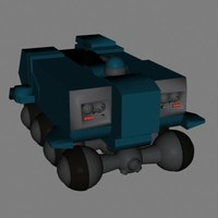 transport vehicle 3d model