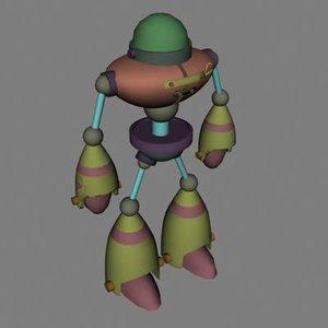 3d model walking robot