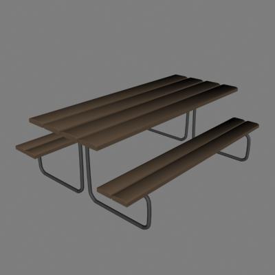 3d picnic model