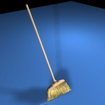 3d broom model