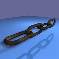 3d model old chain links