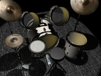 3d model drumkit