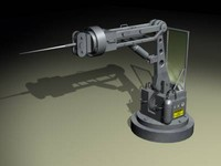 free robotic arm utility 3d model
