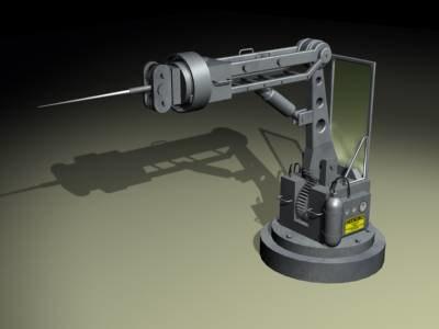 free robotic arm utility 3d model