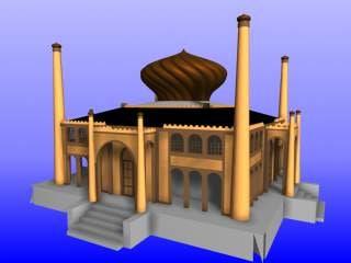 3d model asian palace