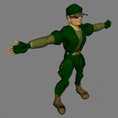 3d x soldier male military