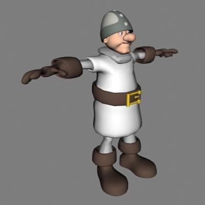 3d model knight human male