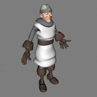3d model male knight