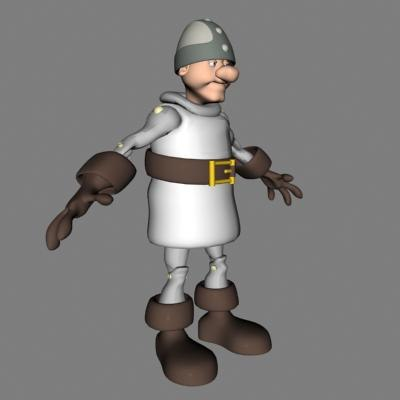 3d model male knight armored