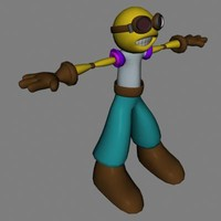 3d model male cartoon character
