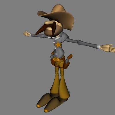 cartoon policeman character x