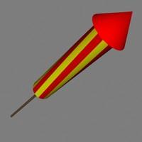 firework 3d model