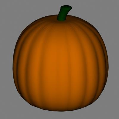 3d model fruit halloween