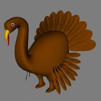 3d bird turkey