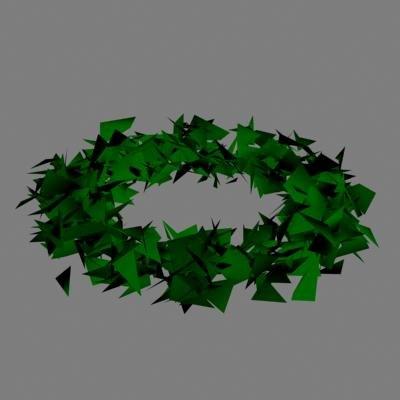 wreathe ornament 3d dxf