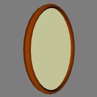 3d oval frame model
