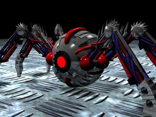 mechanical spider 3d max