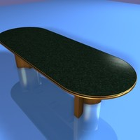 executive meeting table 3d model
