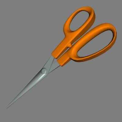 cut metal 3d model