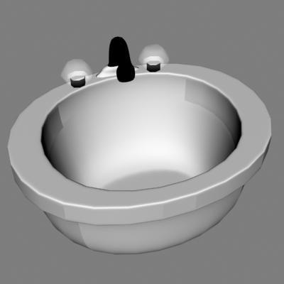 3d white porcelain model