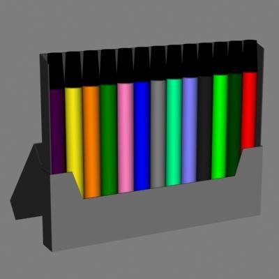 3dsmax markers set color