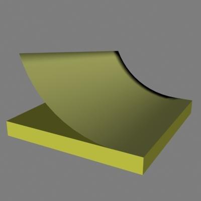 stickey pad 3d model