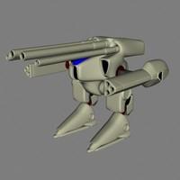 robot brown 3d model