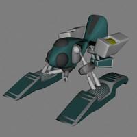 3d model hover scifi