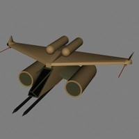 3d model space jet