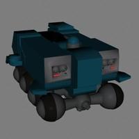 3d transport vehicle model
