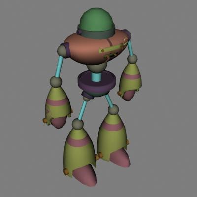 3d model of walking robot