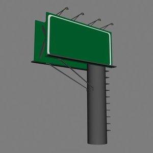 sign billboard dxf