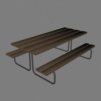 picnic 3d model