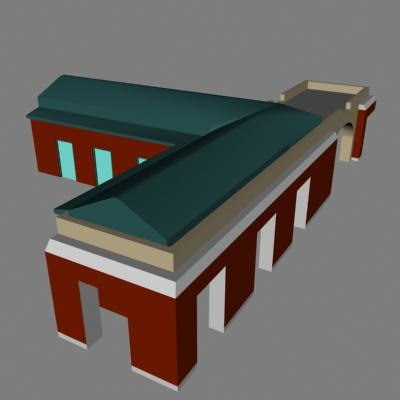 3ds max plaza building shopping