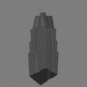 dxf skyscrapper building
