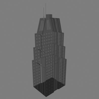 dxf skyscrapper building