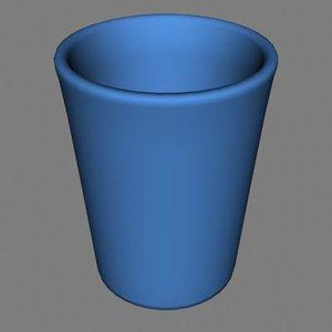 3dsmax plastic waste basket
