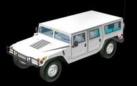 3d model hummer wagon am-general